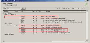 Okno wyboru elementów instalacji QGIS w instalacji zaawansowanej