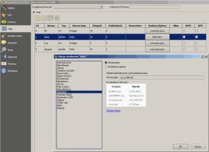 Właściwości pola data w QGIS