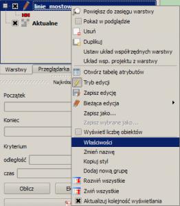 Właściwości warstwy w QGIS