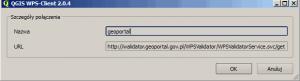 Usługa WPS geoportalu w programie QGIS