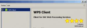 Okno wtyczki wps clienta dla QGIS