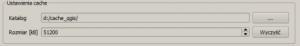 Ustawienia cache WMS w QGIS