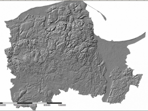 Widok numerycznego modelu terenu w hillshade