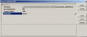Obraz okna polecenia importu pliku XYZ w programie SAGA GIS