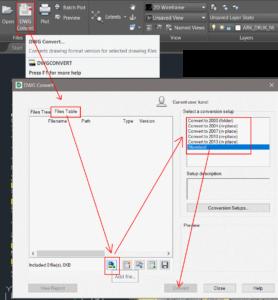 Autodesk TrueView konwersja wersji plików DWG na inną wersję